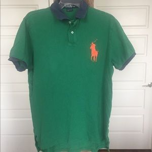 Polo by Ralph Lauren with oversized logo. Size L